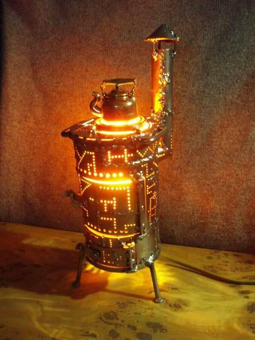 Aleksei Sigaev -  iron stove with copper kettle