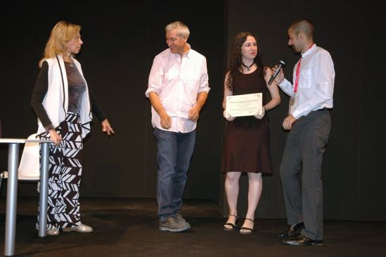 Decimononic team receiving its diploma at AJA Awards Ceremony | Photo: R. Braam