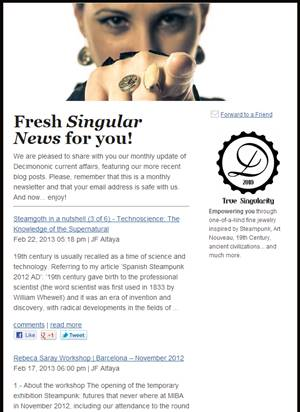 Decimononic newsletter - Singular News