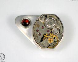 Sky Captain label pin   Steampunk jewelry by Decimononic