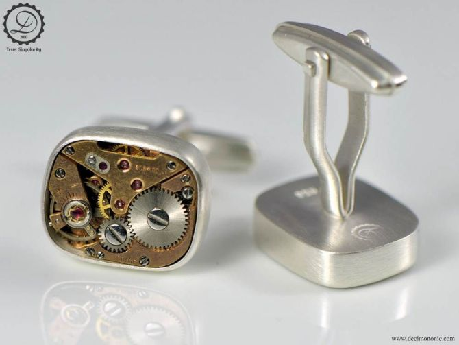 Supra   Steampunk cufflinks by Decimononic