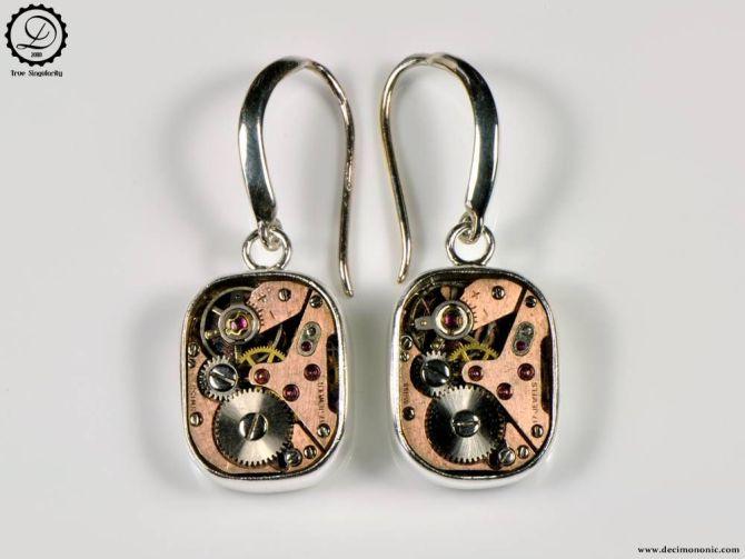 Decimononic - Supra earrings | Sterling silver Steampunk earrings