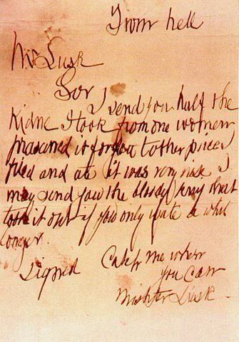 "The ""From Hell"" Letter postmarked 15 October 1888"
