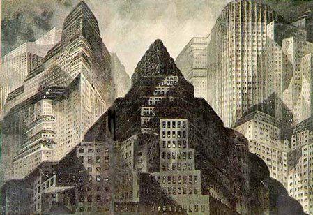 Metropolis - Opening sequence sketch - Erich Kettelhut