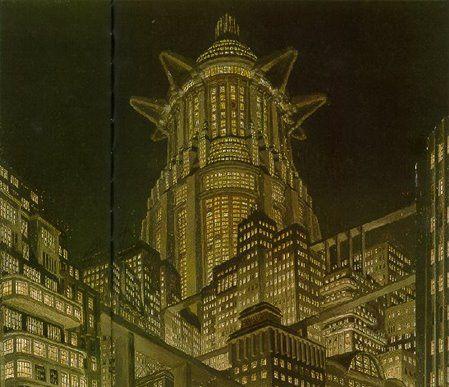 Metropolis - Tower of Babel - oil on cardboard - Erich Kettelhut