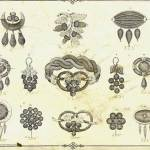 Motifs for Victorian hair jewelry