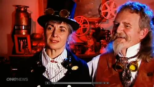 Video: Oamaru Steampunk - TV - Helen Jansen and Iain Clark 2012