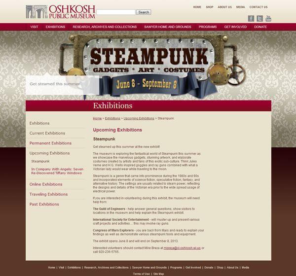 Oshkosh Museum - Steampunk Exhibition 2013
