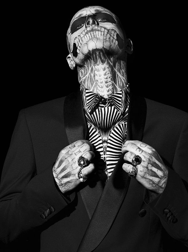 Rick Genest by Aline and Jacqueline Tappia