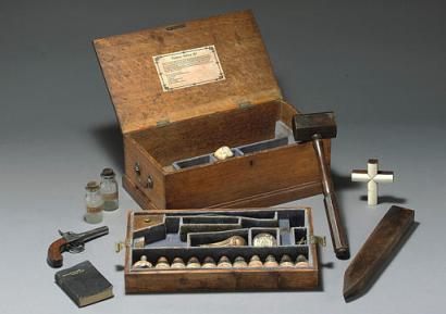 Sothebys - Vampire killing kit - European Souvenir Kit ca 1910