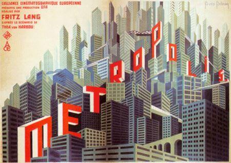Metropolis poster by Boris Bilinsky