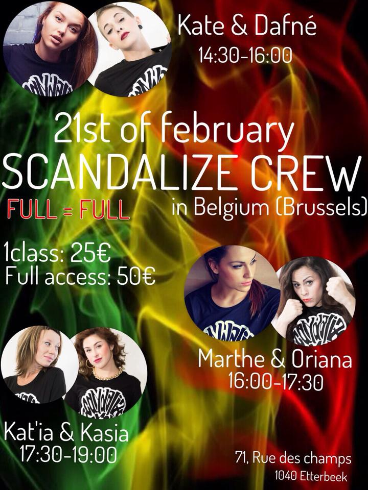 Scandalize crew Brussels