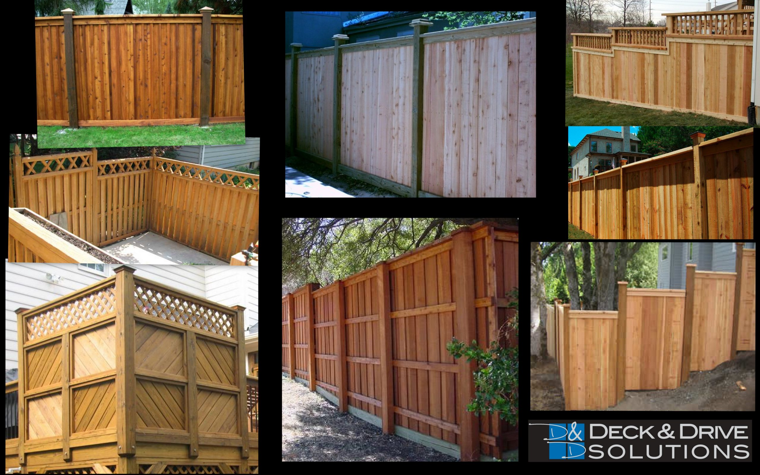 Fence and Privacy Wall Ideas   Deck and Drive Solutions ... on Decorations For Privacy Fence id=83918