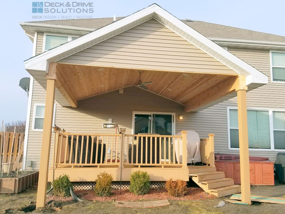 New Roof over Existing Deck | Deck and Drive Solutions ... on Deck Over Patio Ideas id=58023