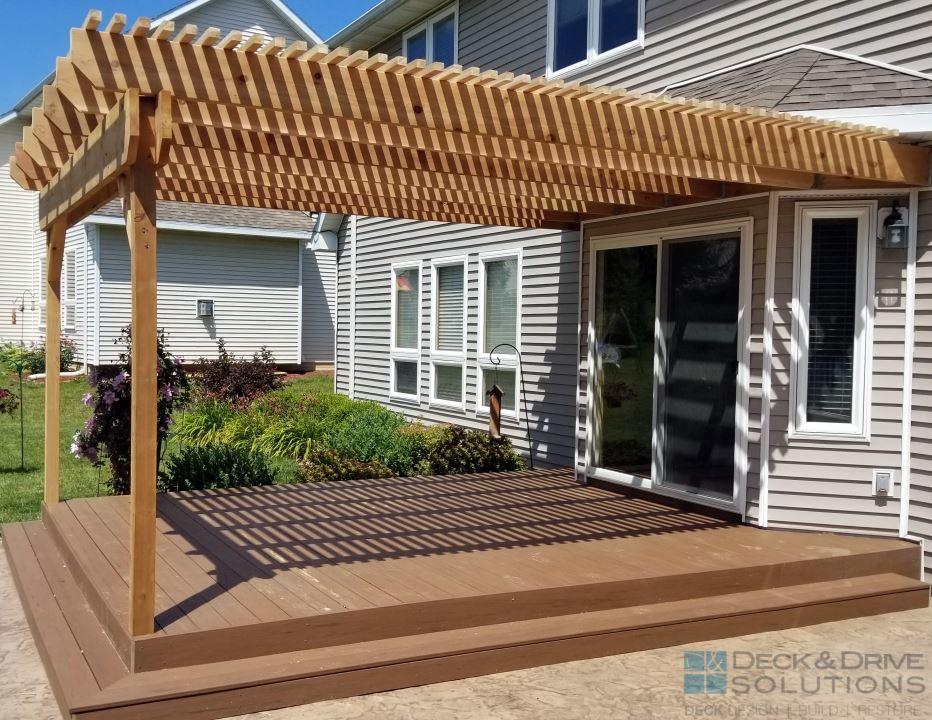 Timbertech Resurface And Cedar Pergola Des Moines Deck