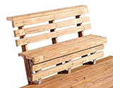 wooden deck bench plans