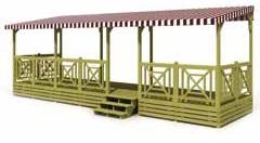 Bâche de toit pergola terrassse mobil home - joue - façade