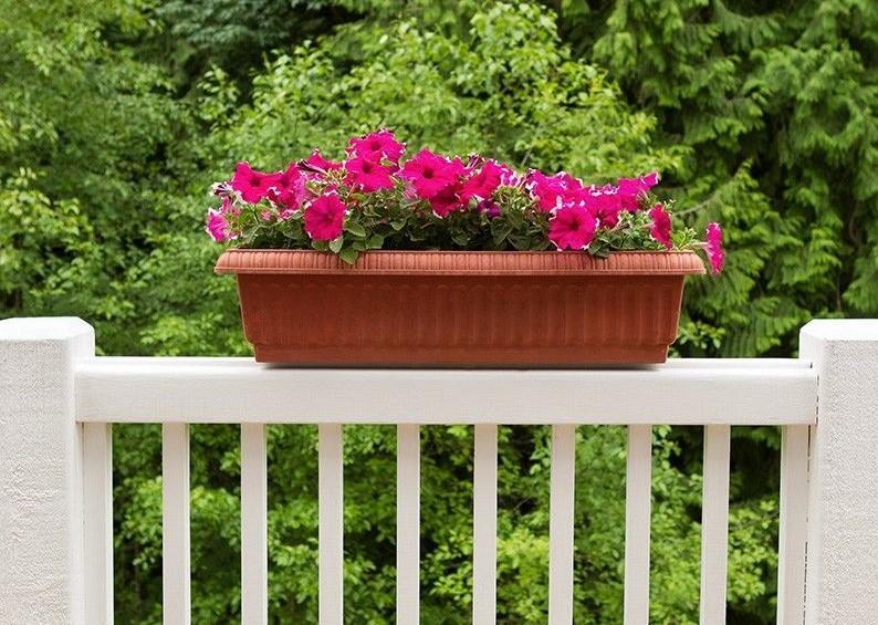 build a diy deck railing planter box