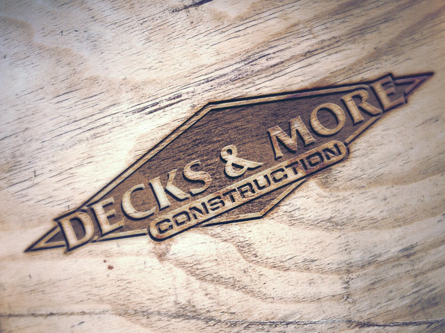 Decks and More Construction Logo Embossed
