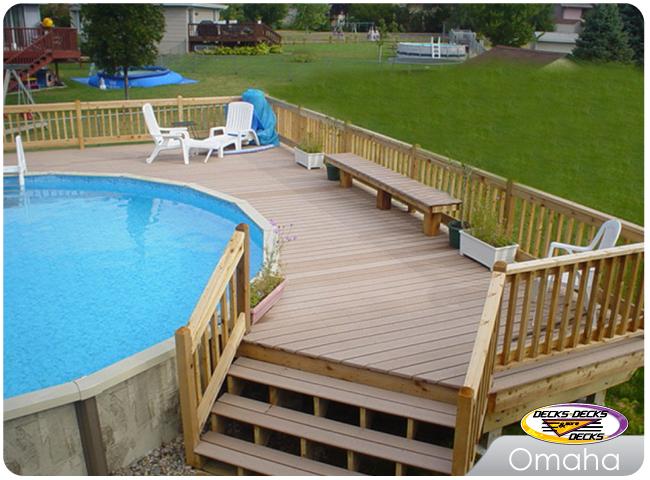 Pool Spa Decks Photo Gallery | Decks, Decks and More Decks ... on Pool Deck Patio Ideas  id=53993