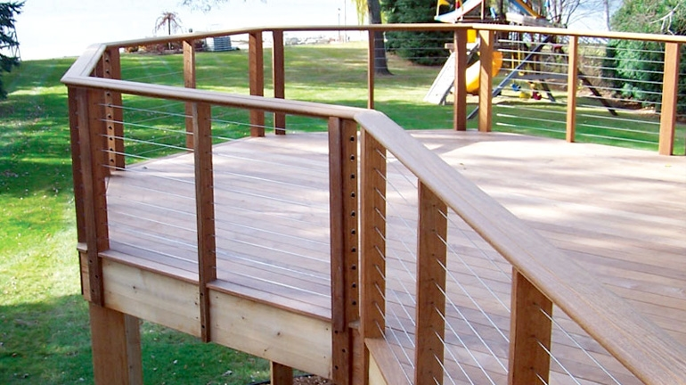 Cable Railing Decksdirect | Metal Wire Stair Railing | Handrail | Contemporary | Balcony | Steel Structure | Indoor