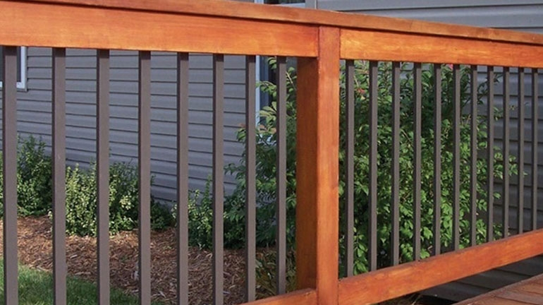 Deck Balusters Spindles Deck Railings Decksdirect | Wood And Metal Banister | Modern | Rustic | Stainless Steel | Design | Aluminum