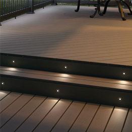 Deck Lighting Led Solar Step Rail Recessed Post Cap