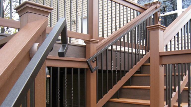 Metal Deck Handrails Deck Stair Railing Aluminum Steel   Metal Handrails For Sale   Balcony Railing   Iron Balusters   Balcony   Grab Rail   Cast Iron