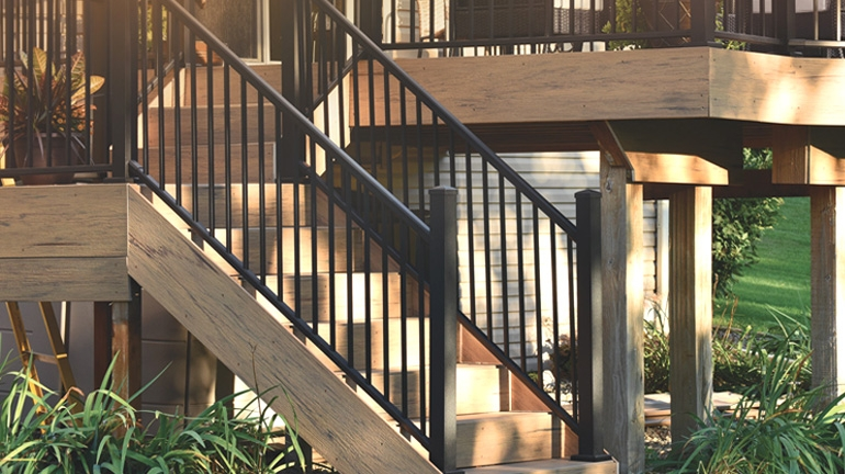 Metal Stair Railing Outdoor Porch Railing Decksdirect | Stainless Steel Outdoor Handrails | Safety | Stainless Pipe | Hand Rail | Tube | Square