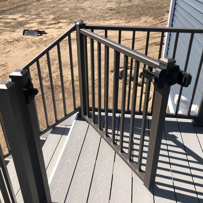 tuscany adjustable gate by westbury aluminum railing