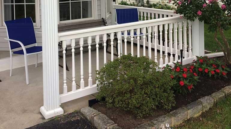 Vinyl Railing Systems Decksdirect | Vinyl Railings For Outside Steps | Balusters | Composite | Wood | Precast Concrete Steps | Railing Installation