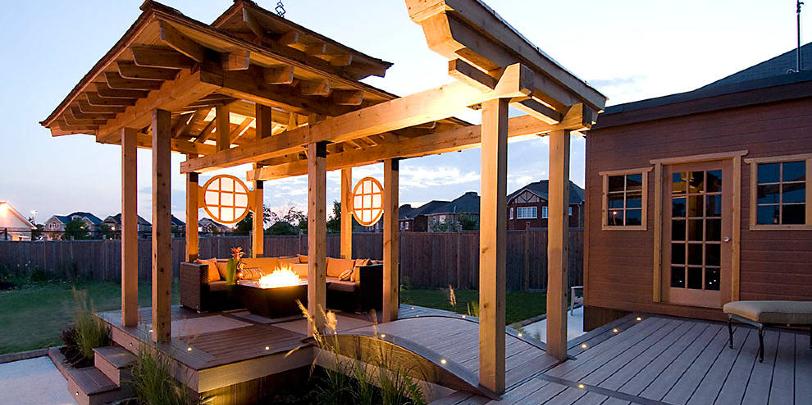 patio for a diy pergola build