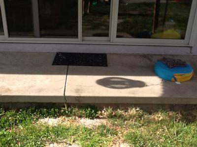 demolish back porch concrete landing or
