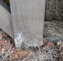or repairing rotting deck support posts