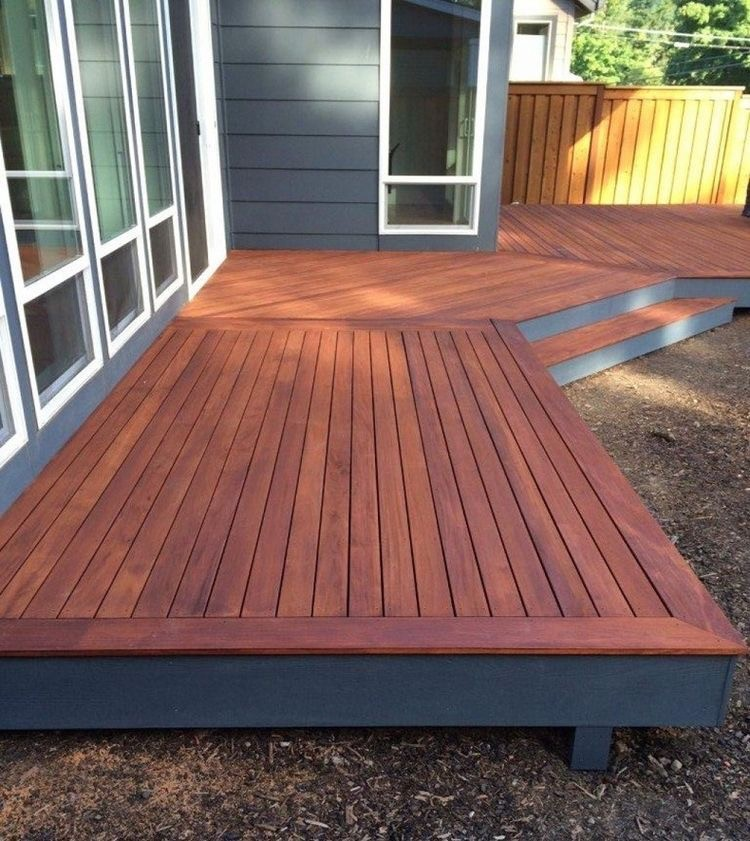 a deck sealer and a deck stain