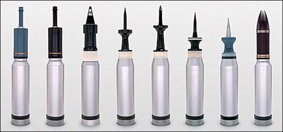 Example image of tank ammunition.