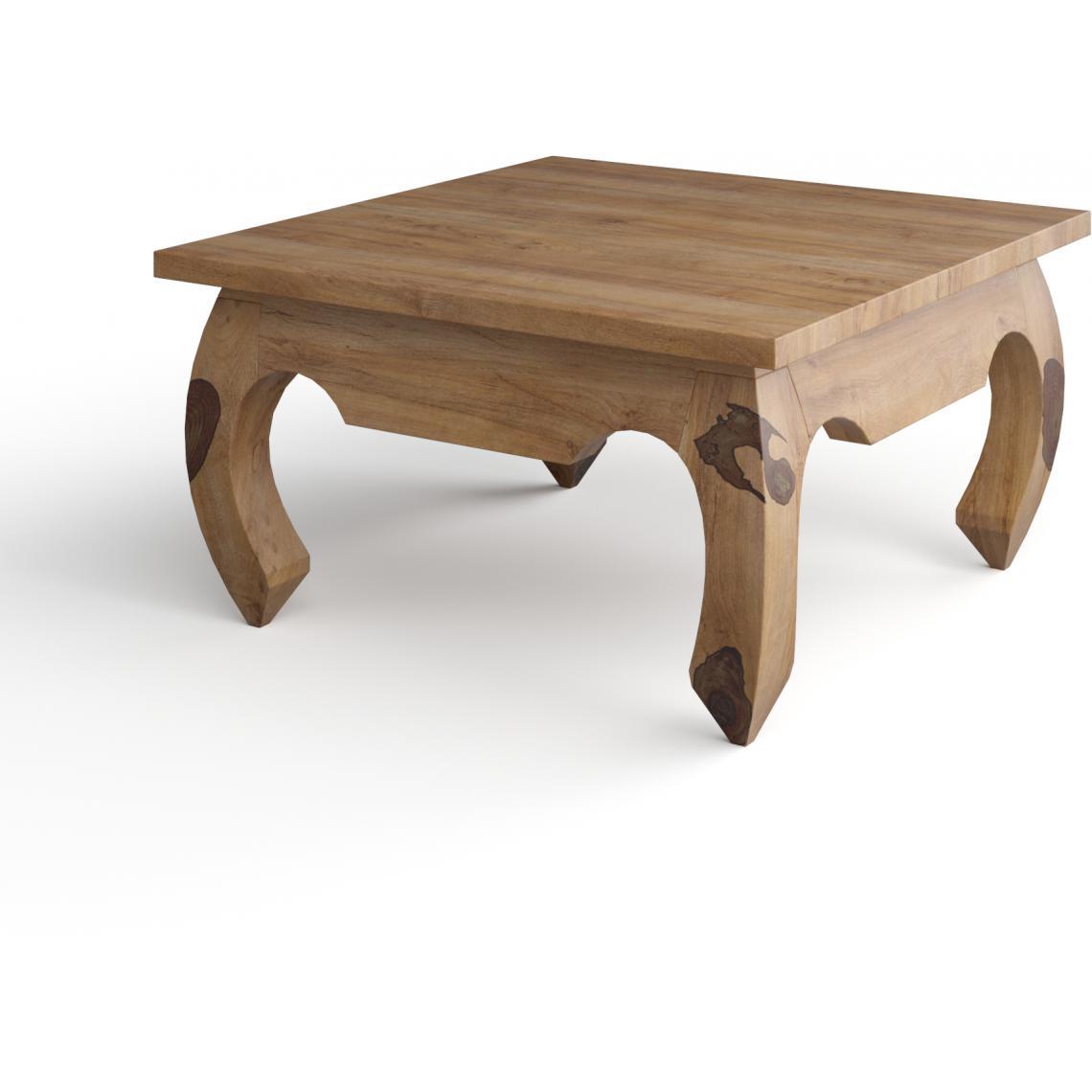 table basse carree en bois naturel