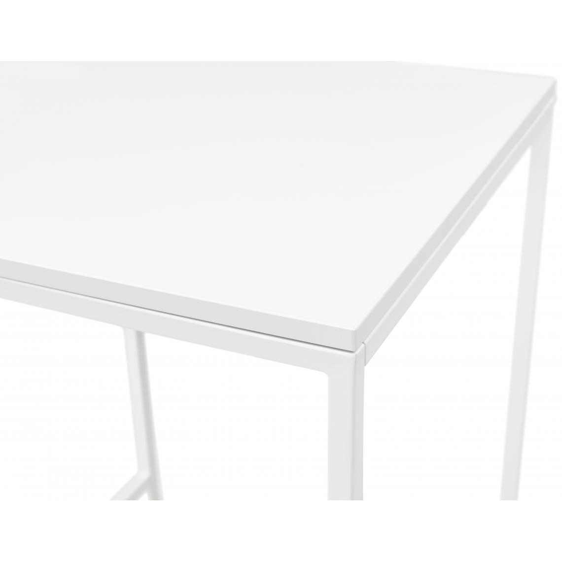 table de bar carree pietement en metal