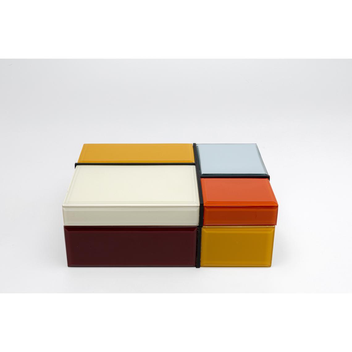 boite de rangement imprime carreaux multicolores xl christie