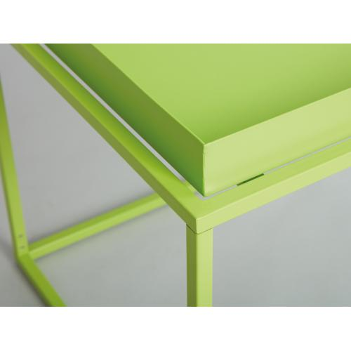 table basse empilable en metal laque vert tista