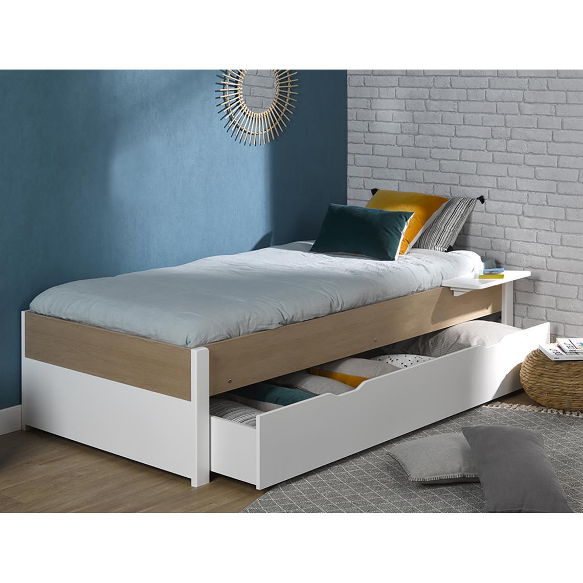 tiroir pour lit junior nomade couchage 90 190