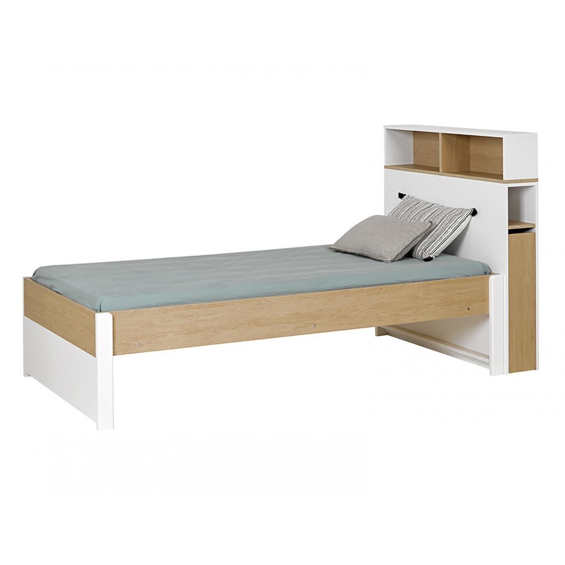 tete de lit 90 simple nomade avec rangement haut