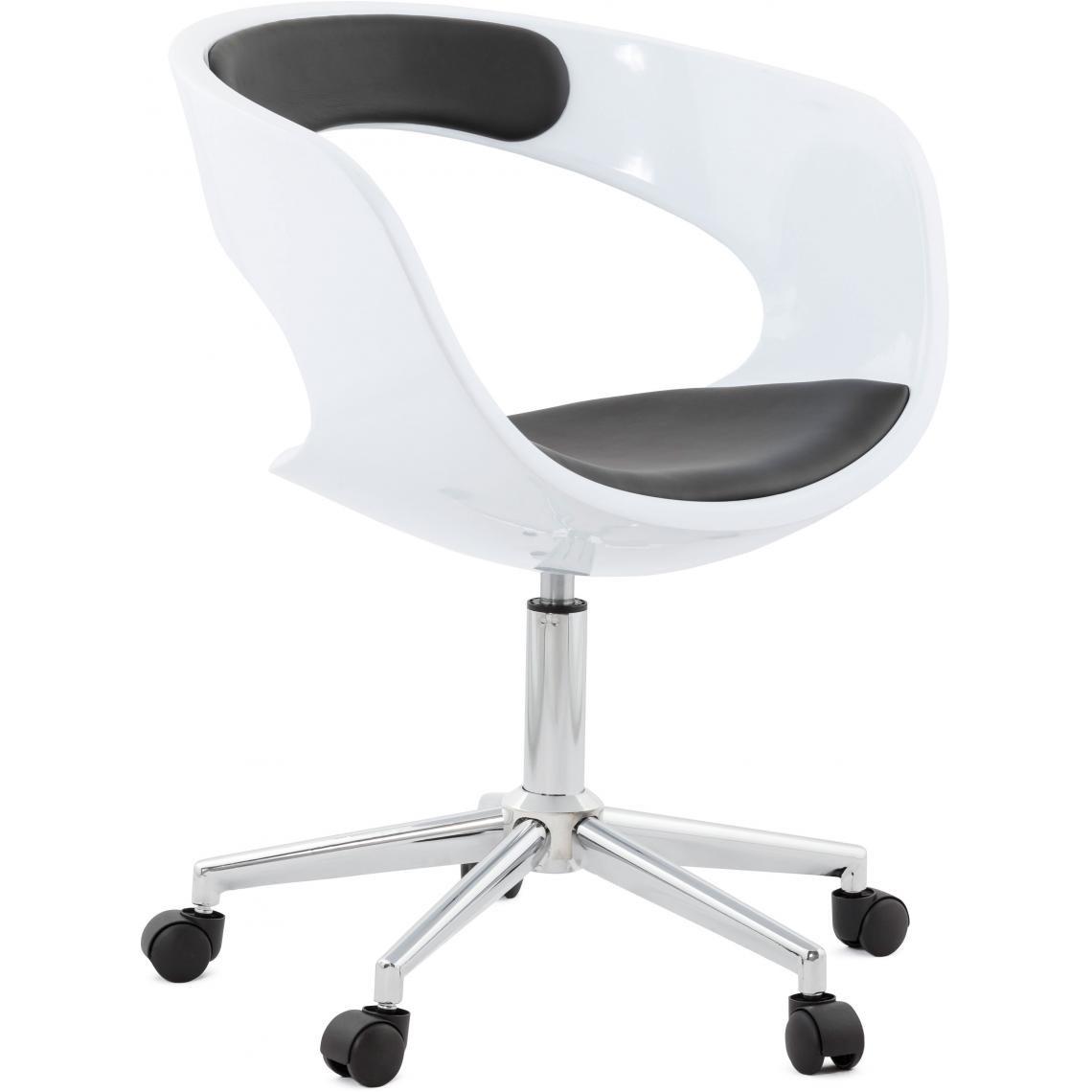 chaise de bureau pivotante noir et blanc aussie
