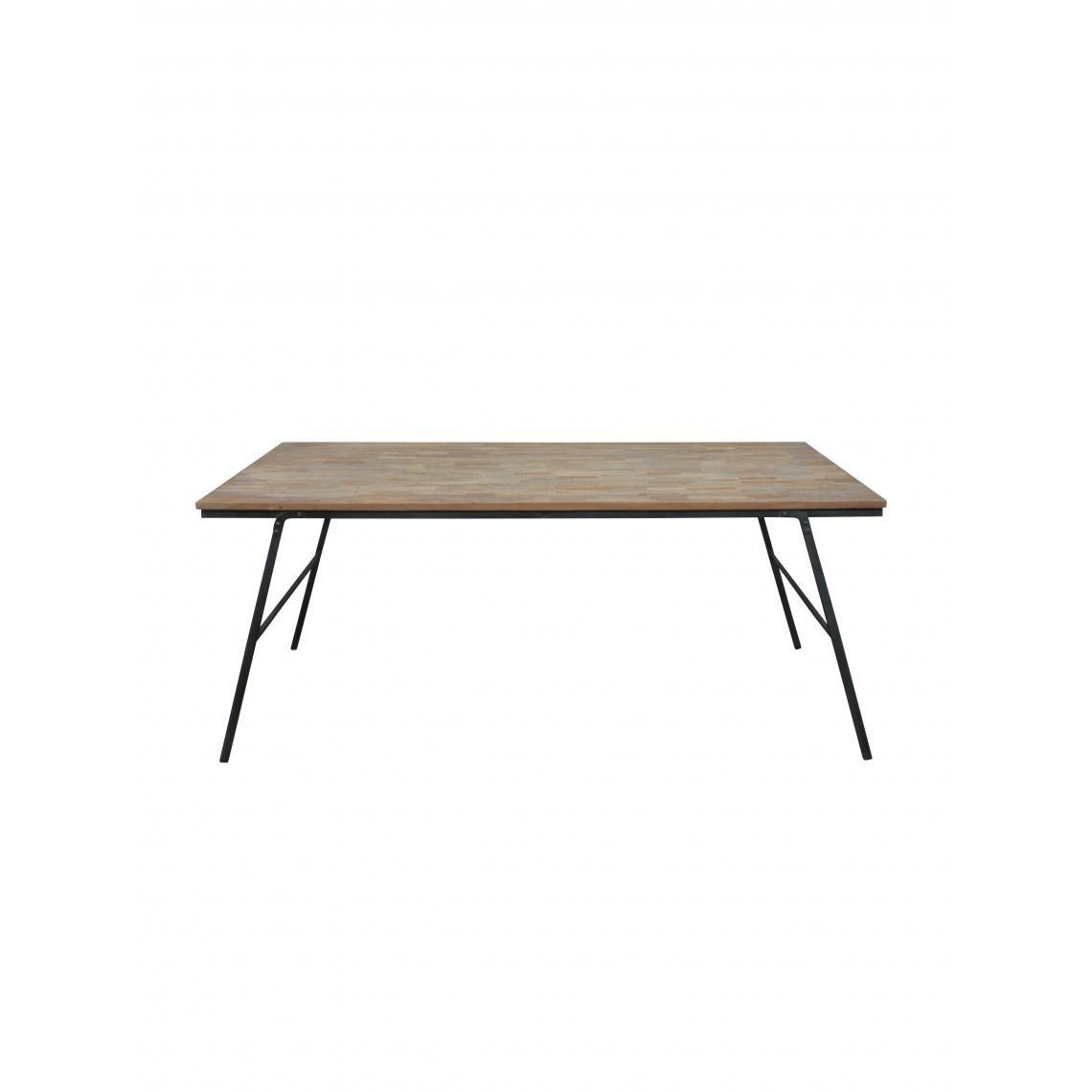 table pliable en teck recycle mercado