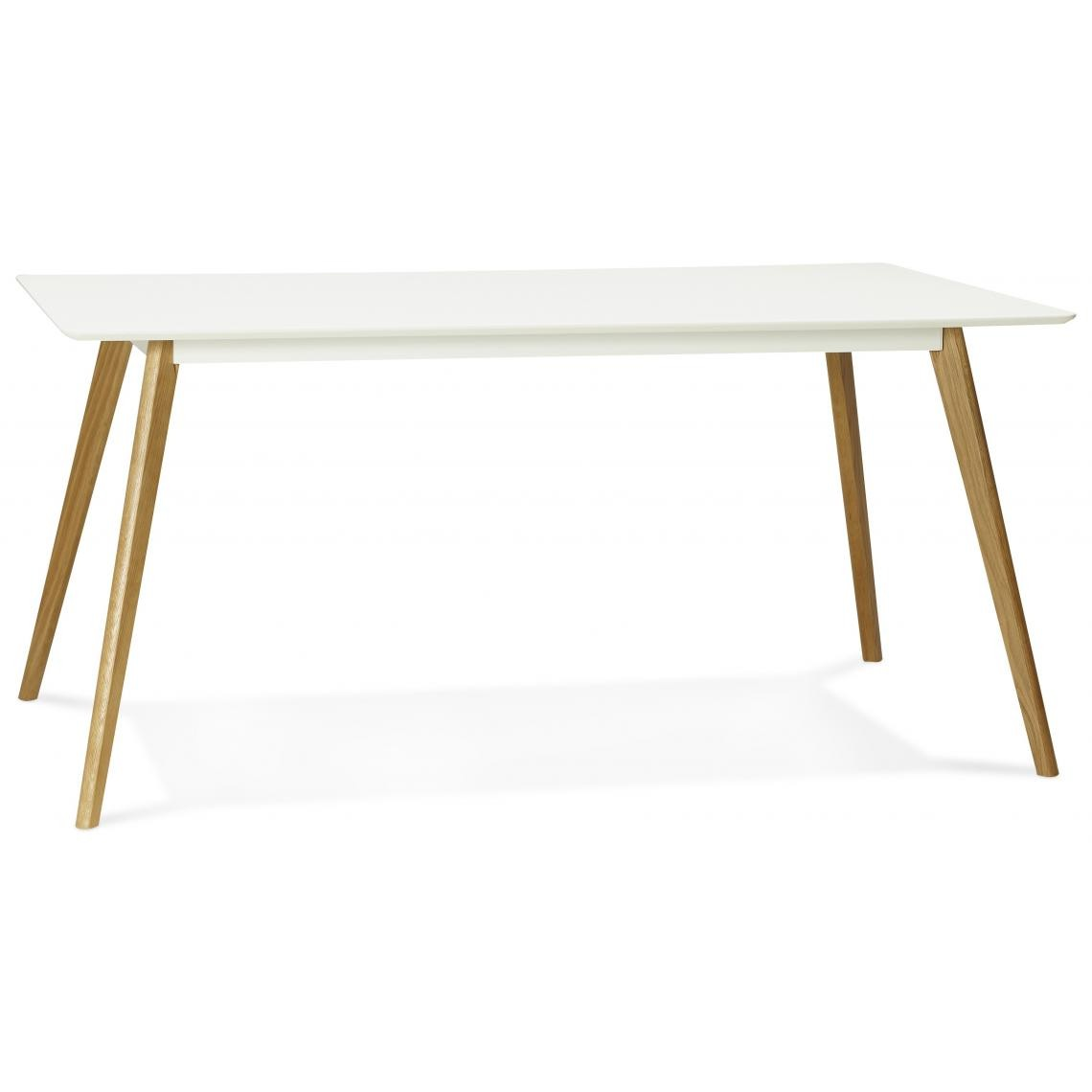 table a manger rectangulaire blanche pieds bois candy