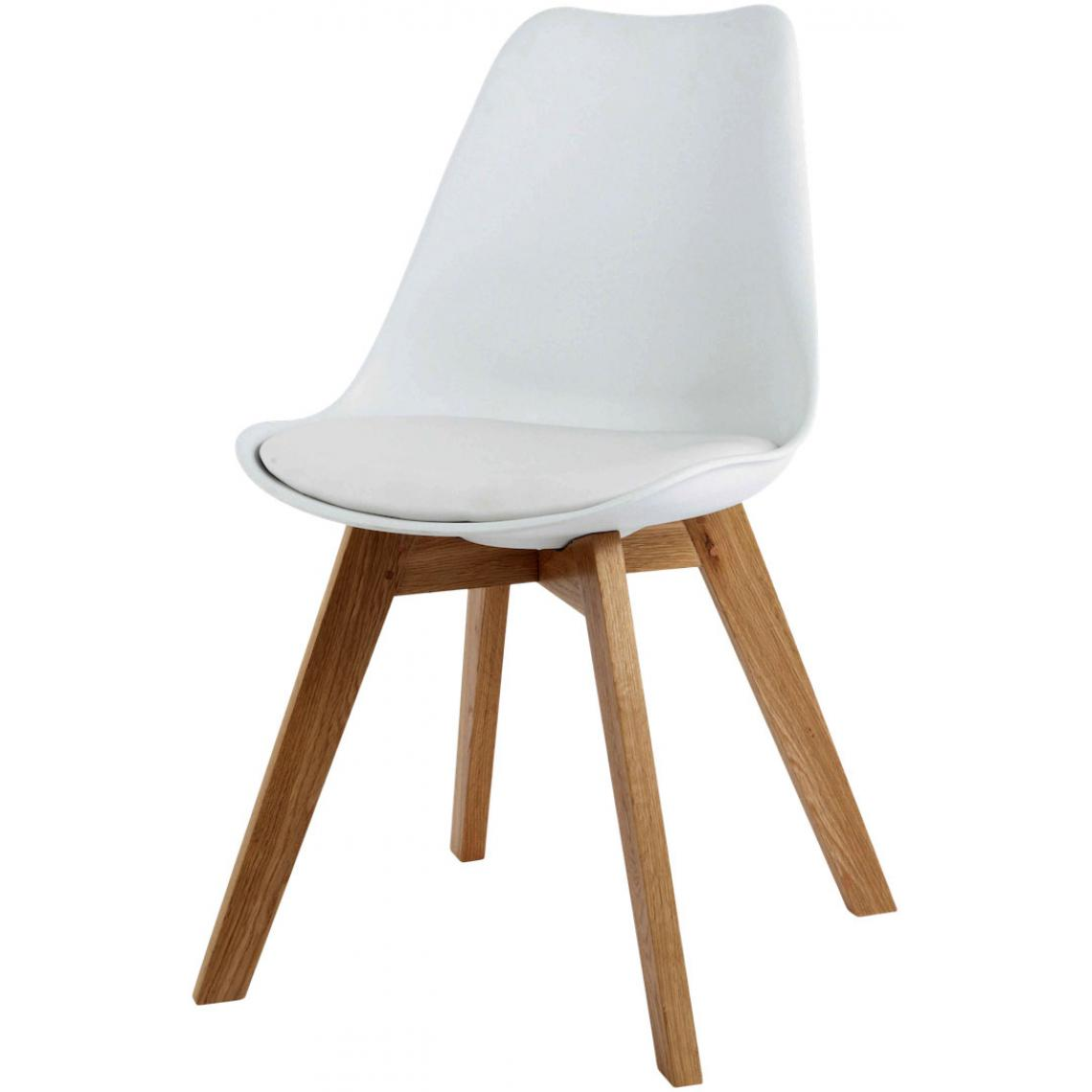 chaise design style scandinave blanche esben
