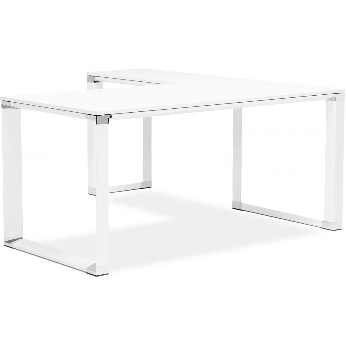 bureau d angle blanc 160x170x74 cm pro