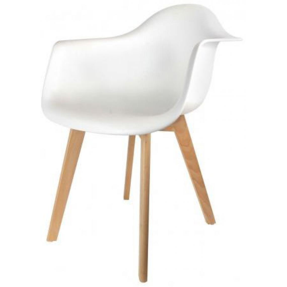 chaise scandinave avec accoudoir blanc fjord