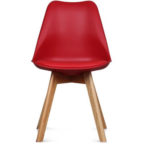 chaise design style scandinave rouge esben