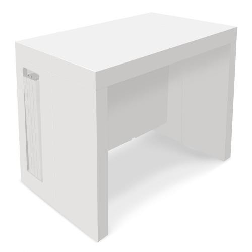 console extensible blanc laque mayline
